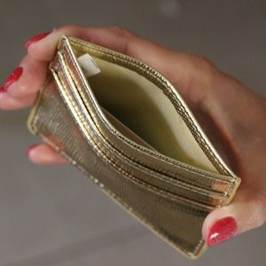 Accessories - Gold Cardholder